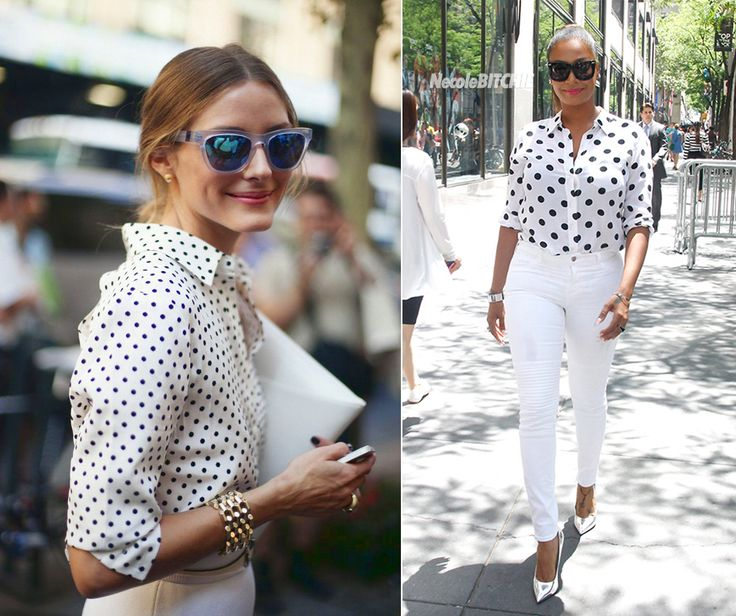 I think that these almost white outfits can be a nice option for a sunny day. So what would it be for you? Would you choose to wear funky stripes or rather romantic dots? #outfit #fashion #beauty