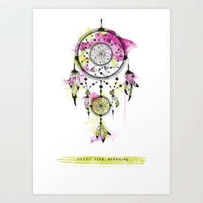 Dreamcatcher Art Print by Klaff Design - $20.00