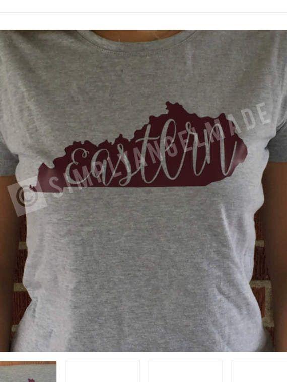 Eastern Kentucky University EKU T-Shirt by SimplyAngelMade on Etsy