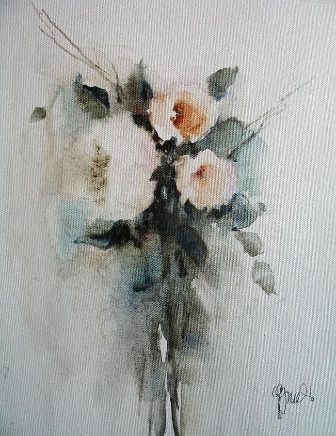 White Roses Painting b...