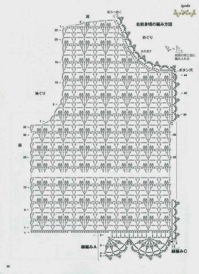 bluzka / szydełko // Shirt chart