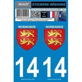 Stickers de Plaque Blason Normandie