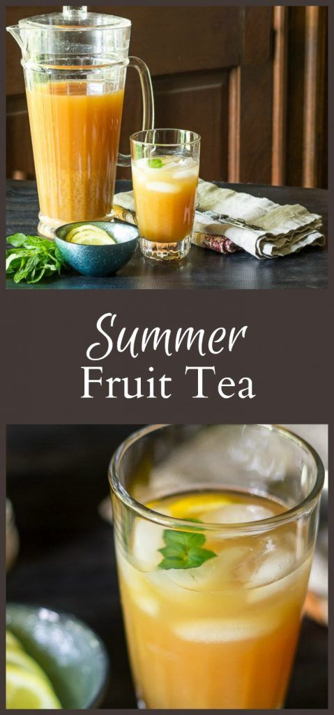 This recipe for a refreshing fruit tea drink is something I never had until I lived in the south. Try is alone or with your favorite liquor.