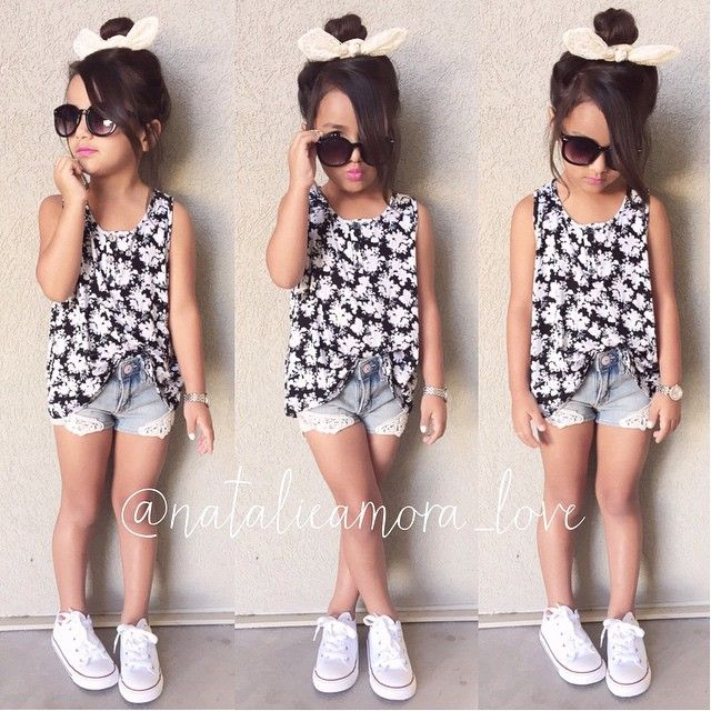 Summer Short Outfit! | Lil' people | Little girl outfits ...