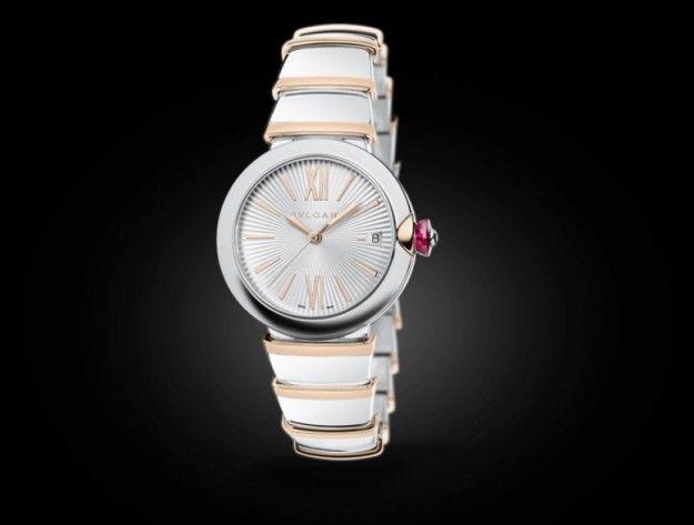 Collezione Lvcea di Bulgari - Dai classici orologi in acciaio, ai lussuosi modelli da donna in oro rosa con pavé di diamanti.