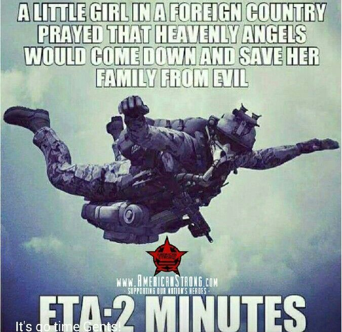 Evil lives in fear because of US soldiers