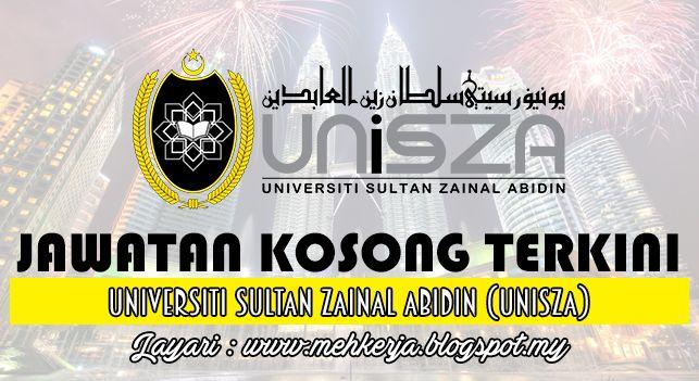 Jawatan Kosong di Universiti Sultan Zainal Abidin (UniSZA) - 29 Sept 2016   Permohonan adalah dipelawa daripada Warganegara Malaysia yang berkelayakan untuk memohon jawatan seperti berikut;-  Jawatan Kosong Terkini 2016diUniversiti Sultan Zainal Abidin (UniSZA)  Jawatan:1. PEGAWAI TADBIR N412. PEGAWAI TEKNOLOGI MAKLUMAT F413. PEGAWAI SAINS C414. PEGAWAI PERTANIAN G415. PENOLONG PEGAWAI TADBIR N296. PENOLONG PEGAWAI TEKNOLOGI MAKLUMAT F297. PENOLONG PEGAWAI SAINS C298. PENOLONG PEGAWAI…