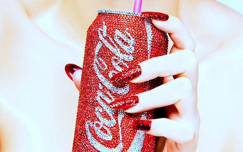 glitter red | coca cola, glitter, nails, photography, red