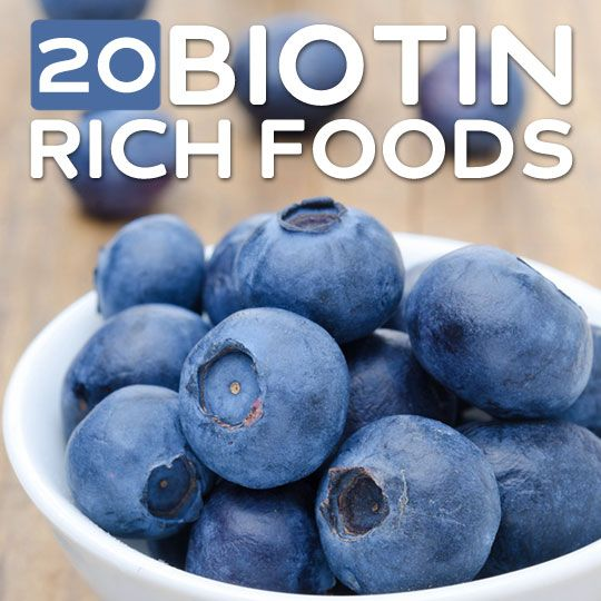 20 Foods High in Biotin- for healthy hair and nails.