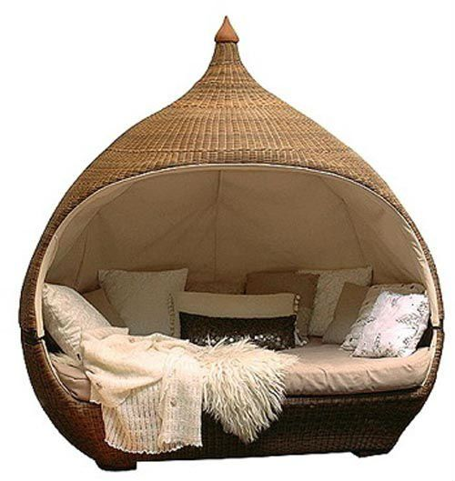 new design high quality outdoor resin wicker lounge bed
