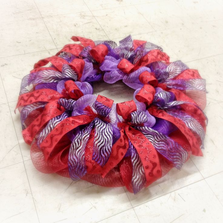 Deco Mesh And Ribbon Christmas Tree Skirt For A Quot Red Hat