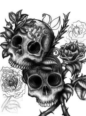 Day Of The Dead Skulls Coloring Pages   skulls by ~Y-art12 on deviantART