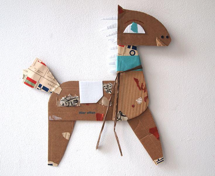 Paper friends:Azulete horse | by blanca helga