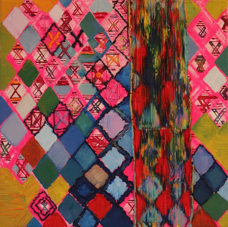 Pinkock 30x30,Oil on canvas 2010