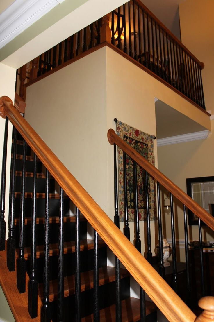 Best Painted Spindles Fairly Handy Painted Stair Railings 400 x 300