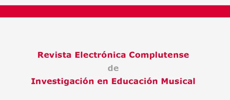 Revista Electrónica Complutense de Investigación en Educación Musical