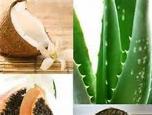 aloevera hair nourishing mask - Bing Images 1/4 cup aloevera gel, 1/4 cup olive oil, 1 egg, 5 drops rosemary essential oil. Combine ingredients. Comb mixture through damp hair and wrap hair in plastic wrap. After 10 min shampoo and condition as usual. Restores moisture to strands