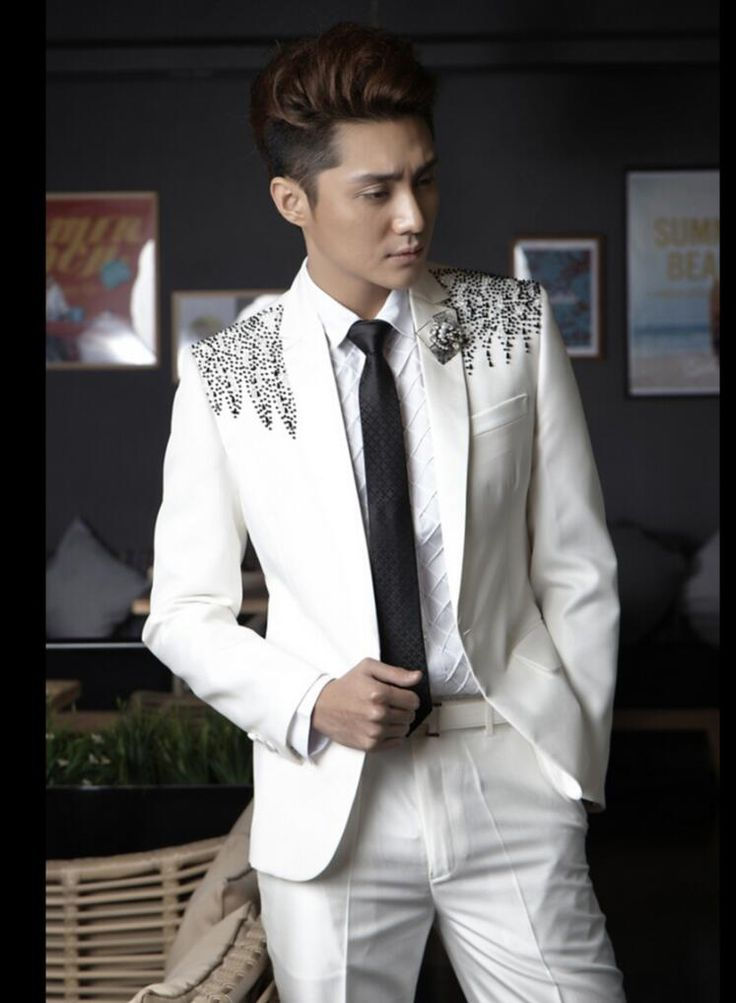 >> Click to Buy << Suit And Pants HOT New Men diamond sequined suit white suit sets formal dress singer stage costumes Groom groomsman dress S-4XL #Affiliate