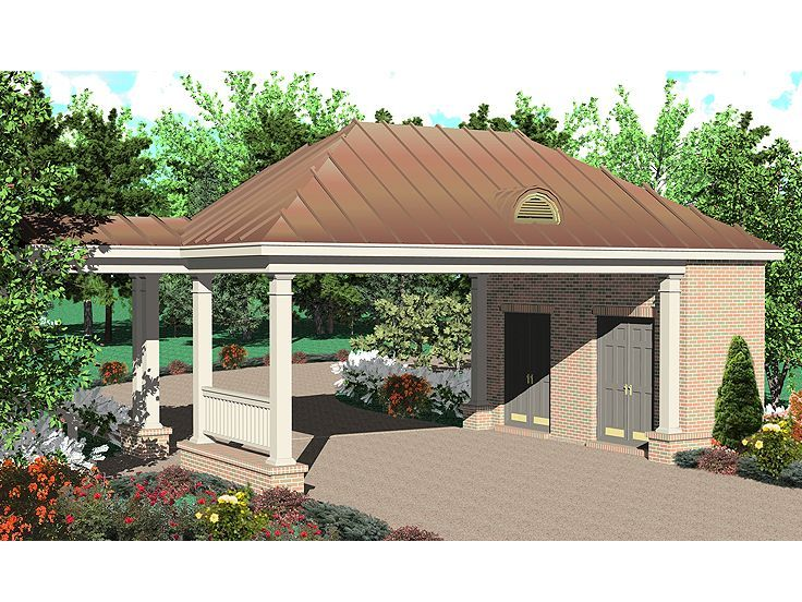 Carport with storage idea plans attached for the home for Attached carport plans free