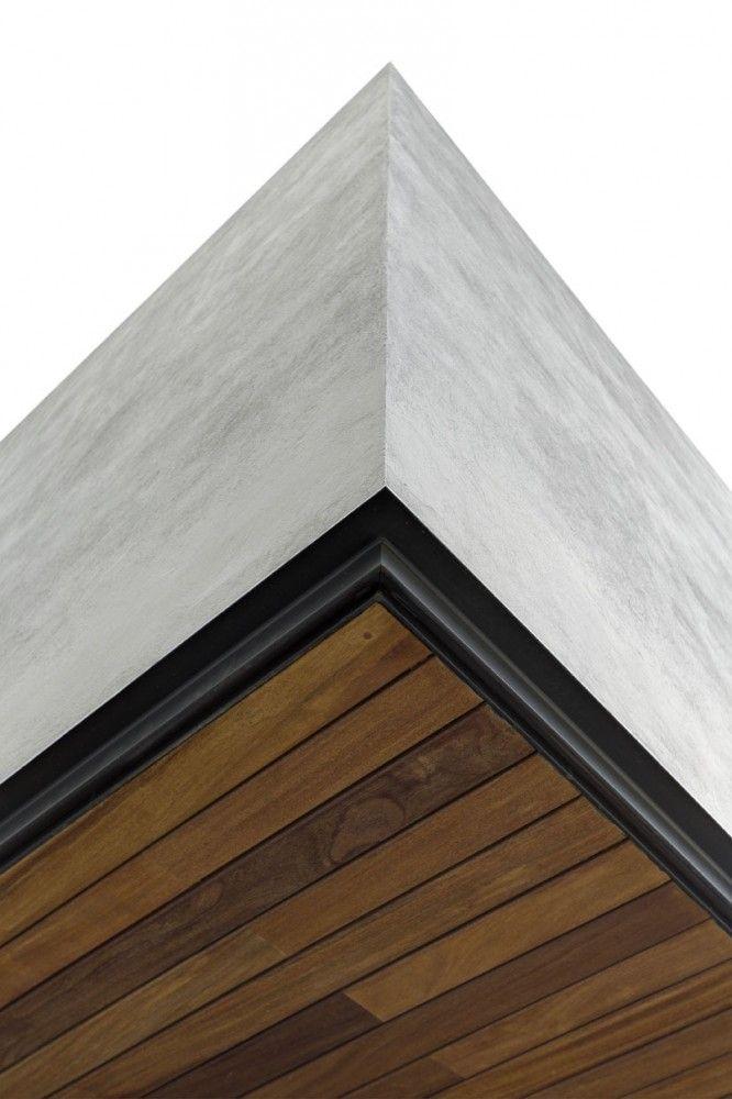 OVal House / Elías Rizo Arquitectos Encuentro cielo madera/marco ventana