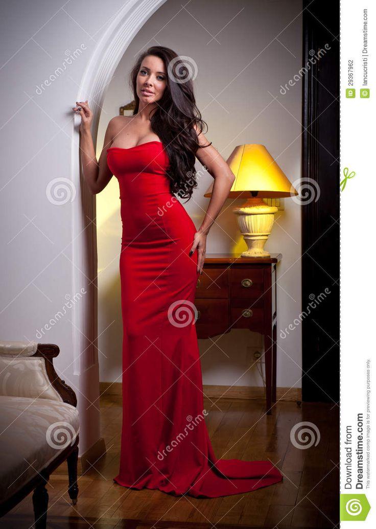 H m vestido rojo largo liquor