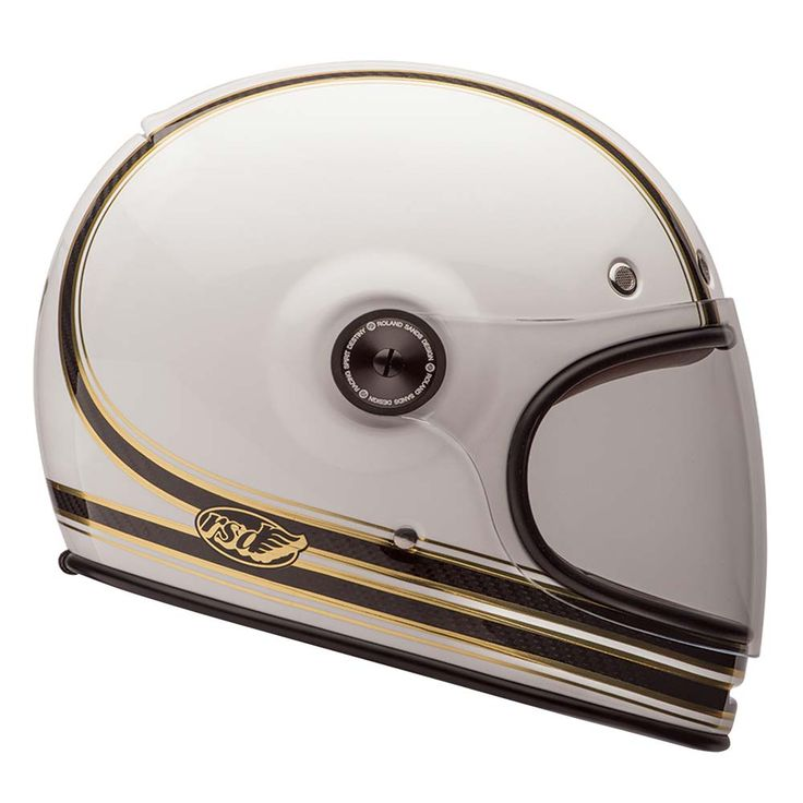 Bell Bullitt Helmet - Carbon RSD Mojo White / Gold | Full Face Motorcycle Helmets | FREE UK delivery - The Cafe Racer