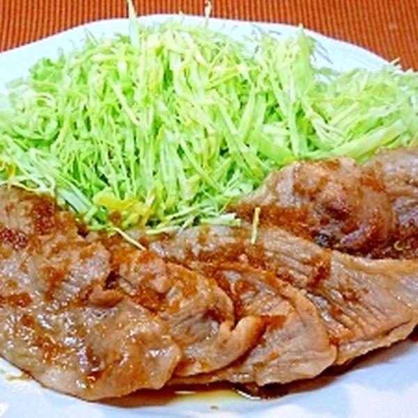 豚もも薄切り肉のしょうが焼き