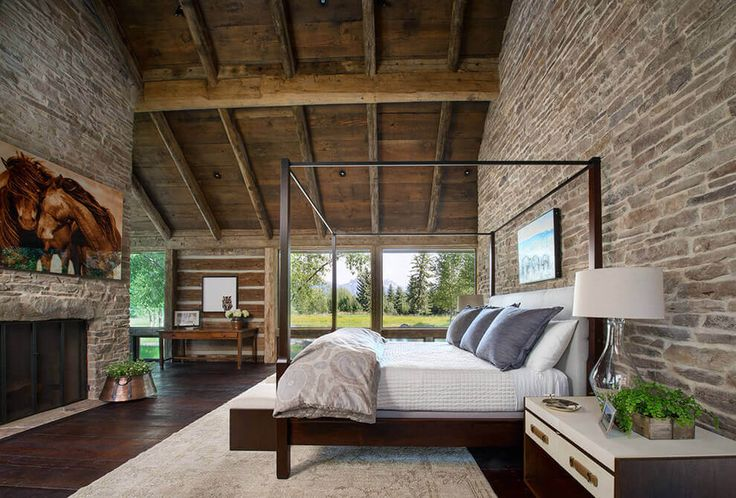 This wild retreat, located in Wyoming,United States, embodies a spirit of the…