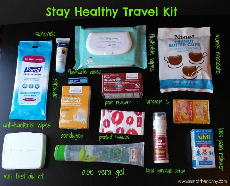 Stay Healthy Travel Kit Contents #WellatWalgreens #shop-I'm Not the Nanny