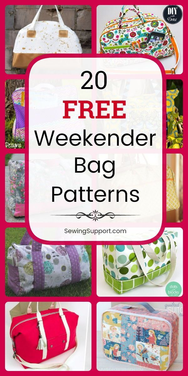 Sew for kids with 20 Free Weekender Bag patterns, tutorials, and diy sewing proj…