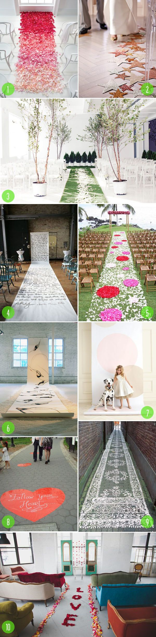 Top 10: Aisle runners