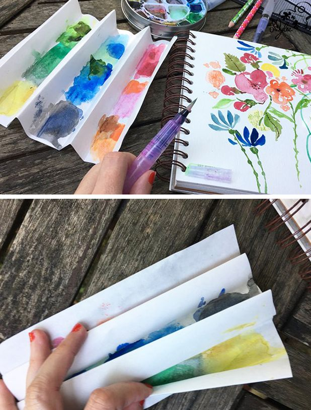 Tear Off Palette Life Hack Amylee S Tip To Simplify Watercolour