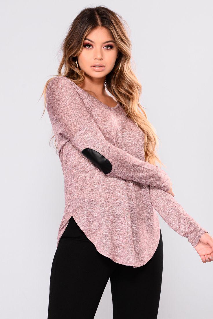 Effortless Sweater - Burgundy