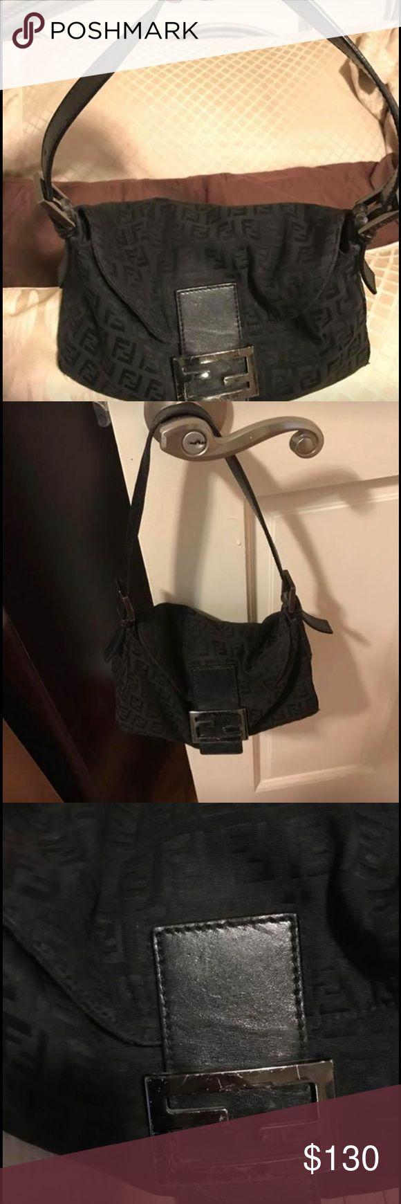 Genuine fendi purse Authentic Black fendi purse AUTHENTIC.  Has some wear as shown in photo. Comes with original dust bag. Fendi Bags Shoulder Bags