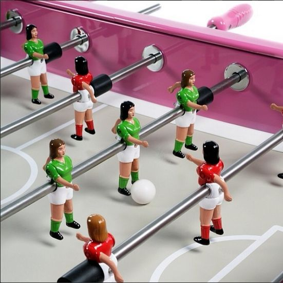 A RS2 stainless steel all-weather table football. Perfect for #WorldCup celebrations. #football #pink #tablefootball #soccer. See more: http://www.gamesroomcompany.com/Product_Catalogue/Table_Football/Table_Football_Tables/RS2_Painted_Stainless_Steel_Football_Table_-_Outdoor_12065