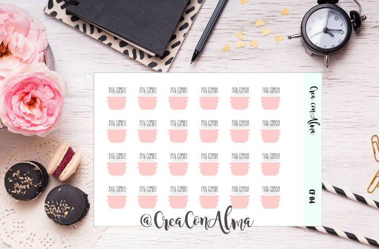 Pegatinas decorativas para agenda, diario/scrapbooking. Planner stickers. Midori, traveler's notebook, happy planner, filofax, Erin Condren de CreaConAlma en Etsy
