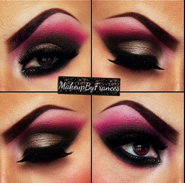 Black And Pink Kiss Makeup: BeautifulDisaster #Make-up