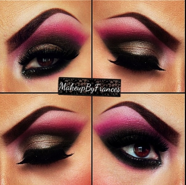 pics for gt hot pink eye makeup ideas