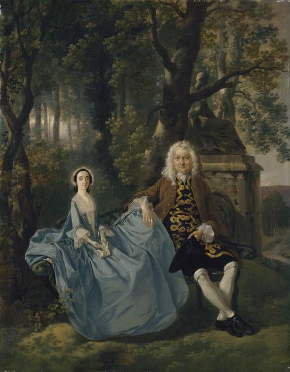 """Mr. and Mrs. Carter"", Thomas Gainsborough, ca. 1747; TC T12609"