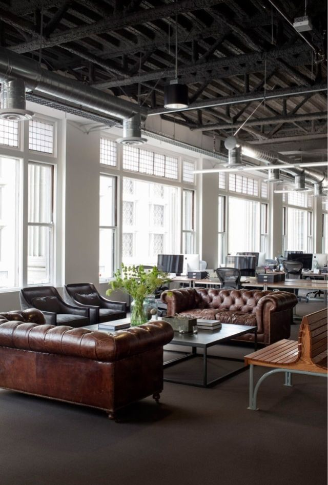 Mixing the old and the new - traditional leather pieces in a contemporary environment