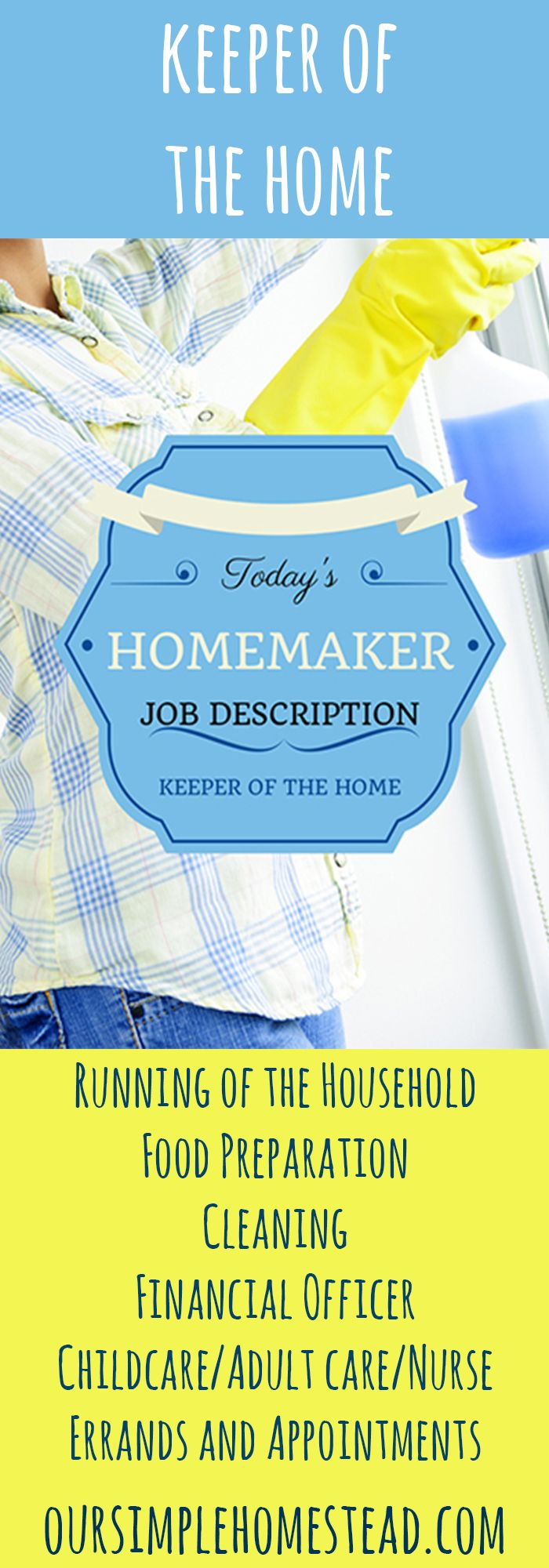 17 best ideas about job description business homemaker job description n my view the old fashion job of a homemaker is