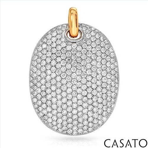 $4,719.00  CASATO! Made in Italy Elegant Brand New Handmade Pendant With 4.10ctw Super Clean FG/VVS Diamonds Made of 18K Gold