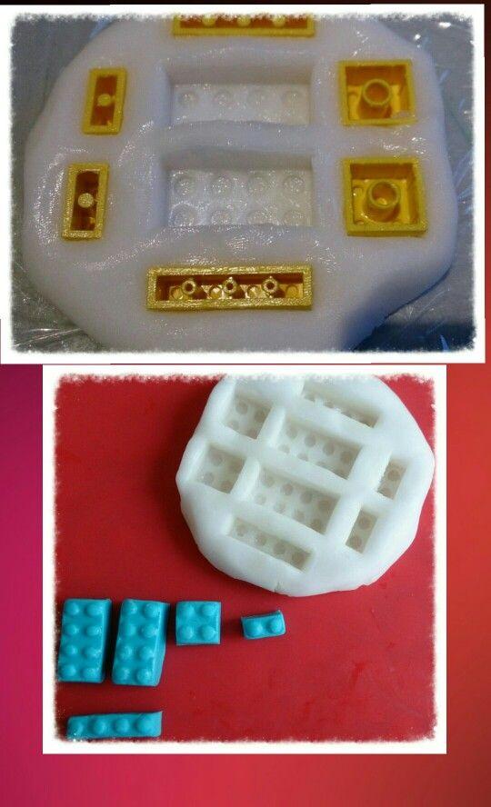 Mal zelf maken van siliconenkit en bindmiddel... Zo makkelijk en leuk. Deze gemaakt voor lego taart