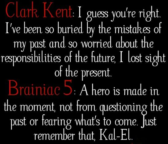 Homecoming. I love this quote. I really liked good Brainiac. Lol
