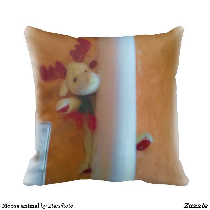 Moose animal throw pillow