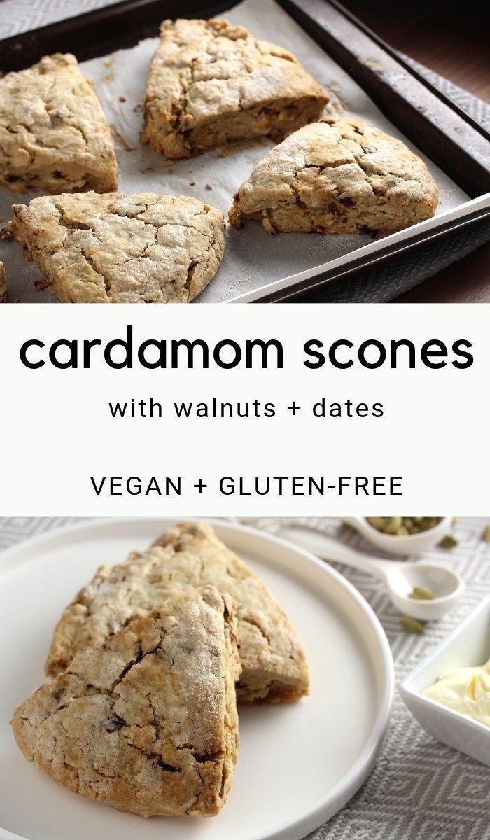 Vegan Gluten Free Cardamom Scones The Vegan Harvest Recipe Gluten Free Scones Food Free Desserts