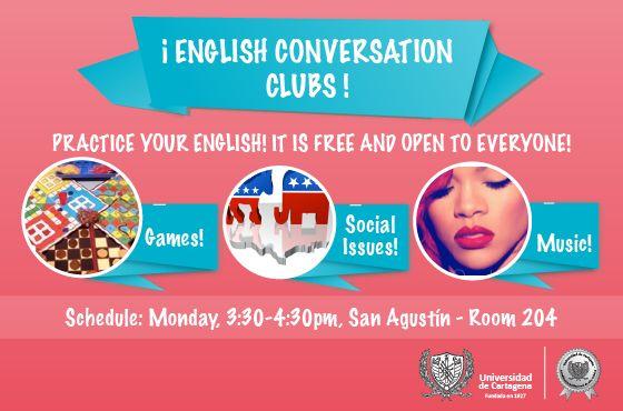 English Conversation Clubs. #Unicartagena #CienciasHumanas
