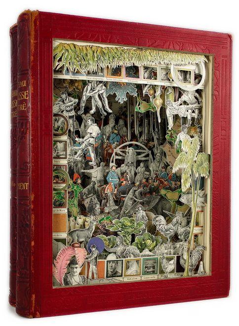 Alexander Korzer-Robinson Book Sculptures