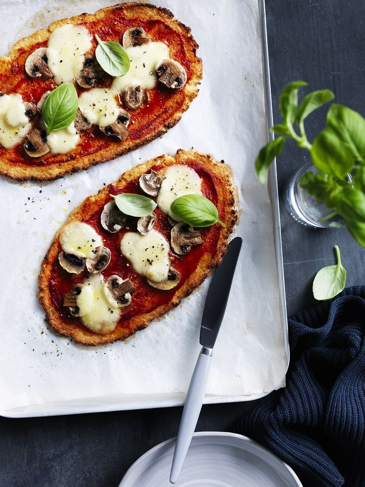 Cauliflower pizza with mushroom | Thermomix cookbook | Something for Everyone