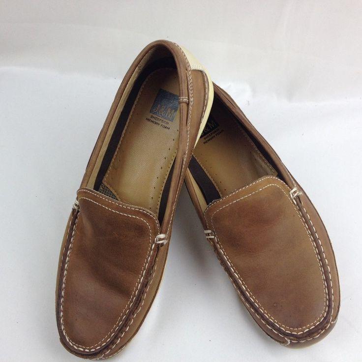 Johnston Murphy J&M Men's Size 10.5M Sheepskin Memory Foam Slip On Loafers Shoes #JohnstonMurphy #LoafersSlipOns